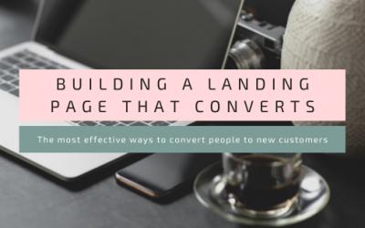 Building a landing page that converts